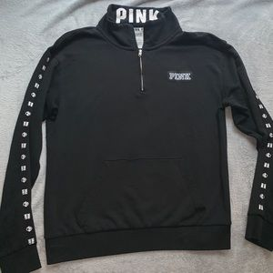 LOVE PINK/ VICTORIA'S SECRET Black Pullover Hoodie
